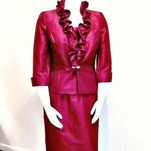 Nicollette Red Special Occasion Suit Sz 14